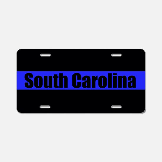 South Carolina Police Aluminum License Plate