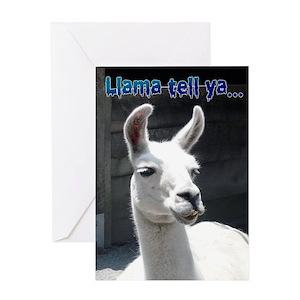 Funny Llama Greeting Cards