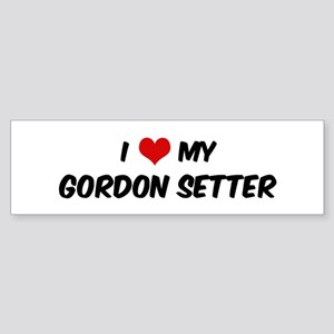 I Love: Gordon Setter Bumper Sticker