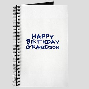 Happy Birthday Grandson Journal