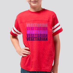 Vegetarian Monochromatic, bla Youth Football Shirt