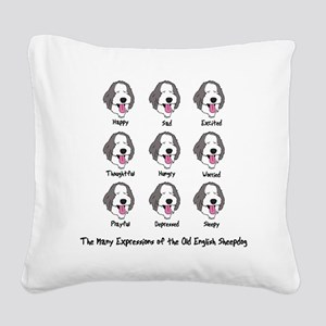 expressions_oes Square Canvas Pillow