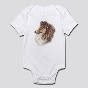 Vintage Sable Collie Infant Creeper
