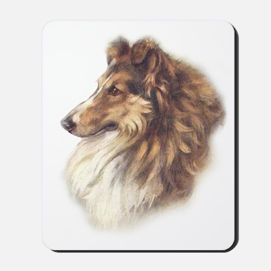 Vintage Sable Collie Mousepad