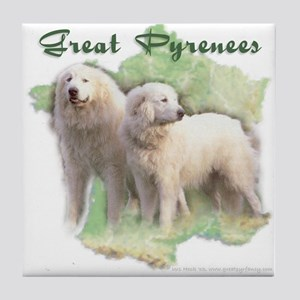 French Map Pyrs Tile Coaster