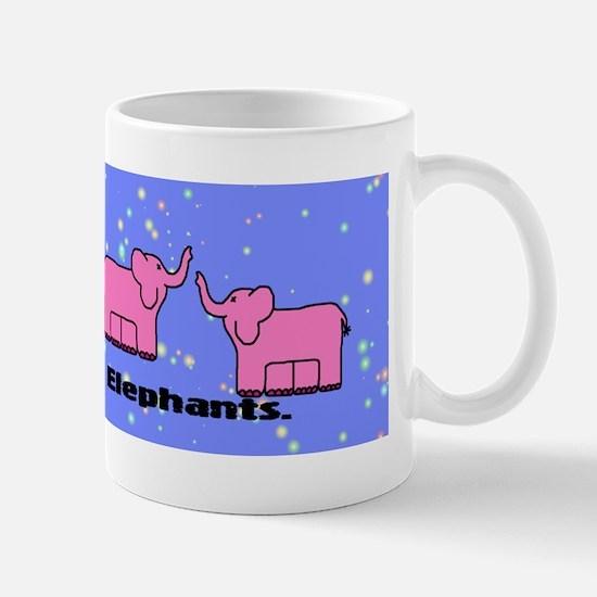pink_elephants_bumper Mug