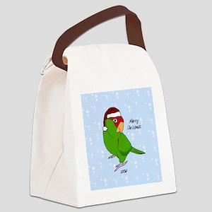 ornament_cherryhead_santa Canvas Lunch Bag