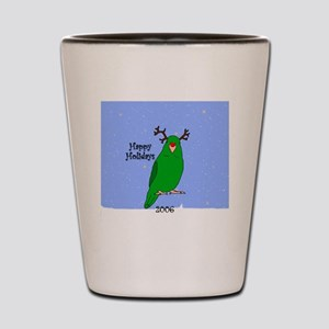 ornament_parrotlet_greenreindeer Shot Glass