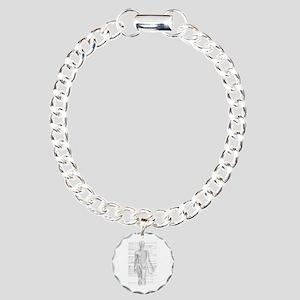 Human Anatomy Chart Charm Bracelet, One Charm