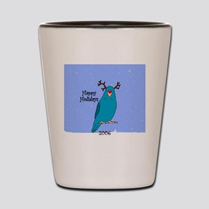 ornament_parrotlet_bluereindeer Shot Glass