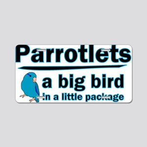 Blue Parrotlet Shirt Aluminum License Plate