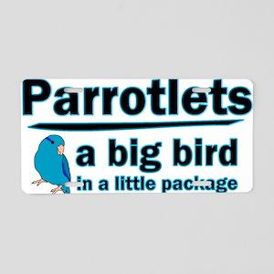 Blue Parrotlet Shirt Aluminum License Plate