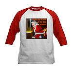'Santa knelt' Kids Baseball Jersey