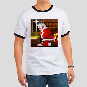 'Santa knelt' Ringer T