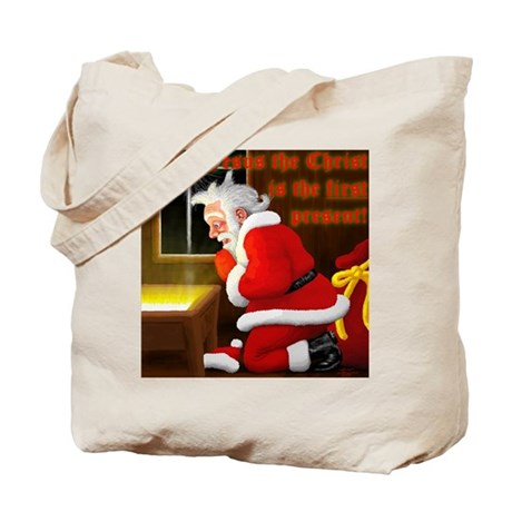 'Santa knelt' Tote Bag