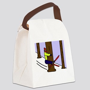 treehugger_blackshirt Canvas Lunch Bag