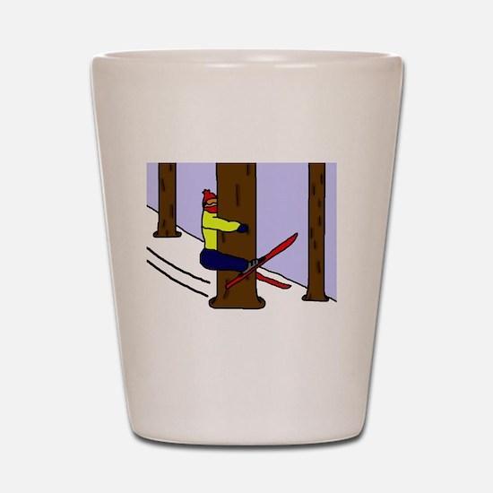 treehugger_blackshirt Shot Glass