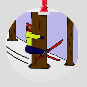 treehugger_blackshirt Round Ornament