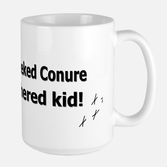 featheredkids_greencheekedconure Large Mug