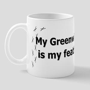 featheredkids_greenwingmacaw Mug