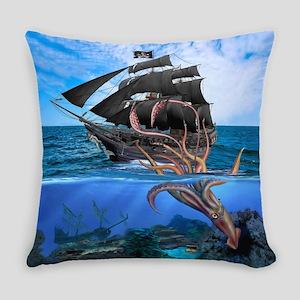 Pirates vs The Giant Squid Everyday Pillow