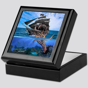 Pirates vs The Giant Squid Keepsake Box