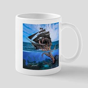 Pirates vs The Giant Squid Mugs