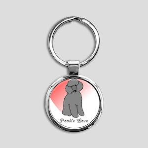 poodlelove Round Keychain