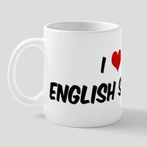 I Love: English Shepherd Mug