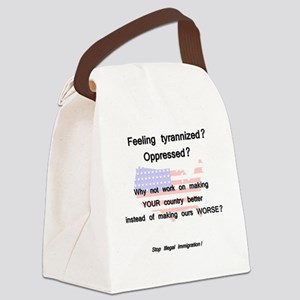 tyrannized Canvas Lunch Bag