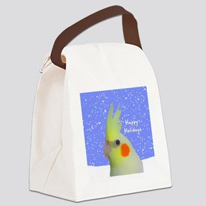 ornament_lutinocockatielpainting Canvas Lunch Bag