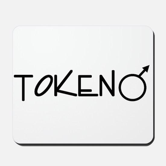 Token-Male (black) Mousepad
