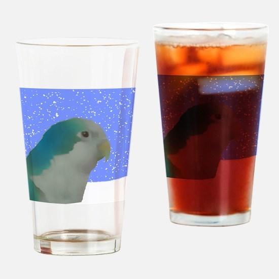 ornament_quakerpaintingblue Drinking Glass