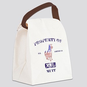 propertyofallamericanmuttwashed Canvas Lunch Bag