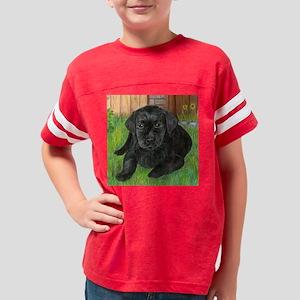 Lab Puppy Jake Youth Football Shirt