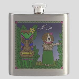 germanshorthairpointer_hula Flask