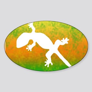 Colorful Gecko t-shirt Sticker (Oval)