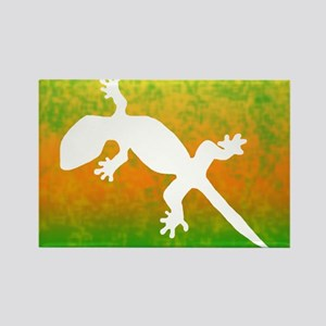 Colorful Gecko t-shirt Rectangle Magnet