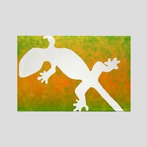colorful_gecko_mousepad Rectangle Magnet