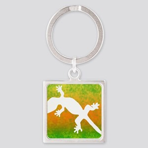 colorful_gecko_mousepad Square Keychain