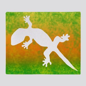 colorful_gecko_mousepad Throw Blanket