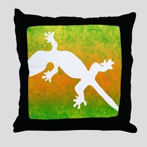 colorful_gecko_mousepad Throw Pillow