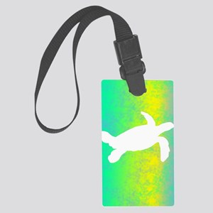 colorful_turtle_lightswitch Large Luggage Tag
