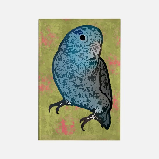 parrotletblue card Rectangle Magnet