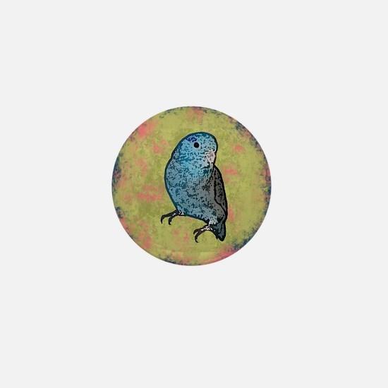 parrotletblue ornament Mini Button