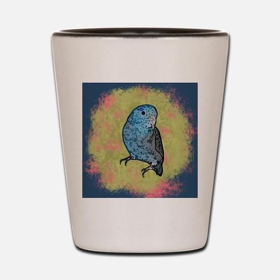parrotletblue ornament Shot Glass