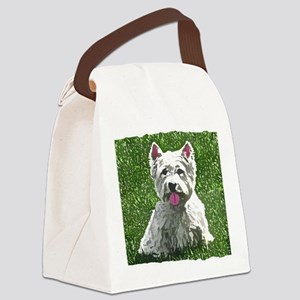 westie_journal Canvas Lunch Bag