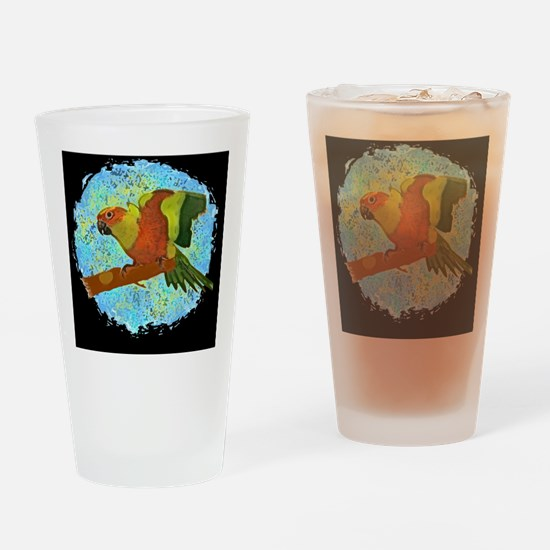 sunconure_tile Drinking Glass