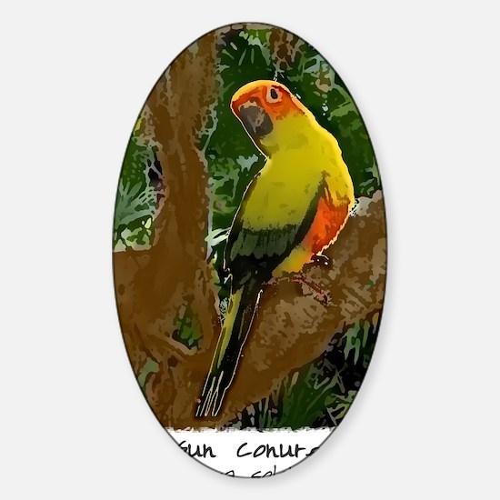 sunconure_forest_shirt Sticker (Oval)
