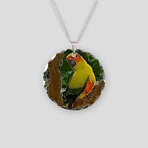 sunconure_forest_tile Necklace Circle Charm